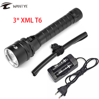 Professional For Diver Lamp 100M Underwater 6000LM XM L T6 LED Scuba Diving Flashlight Torch Waterproof