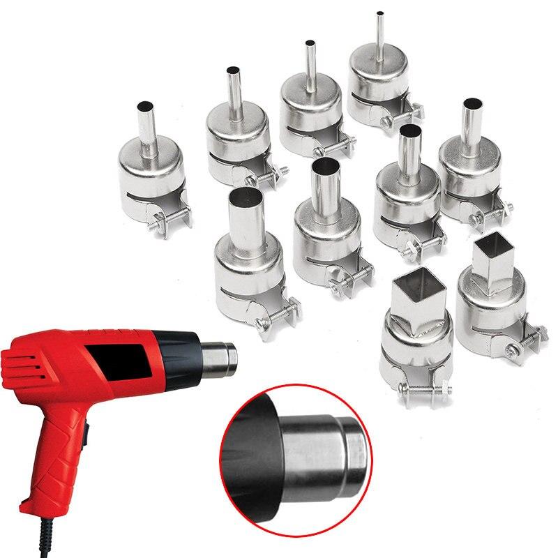 10pcs/Set Heat Nozzle Tool Kits For 850 Hot Air Soldering Station Rework BGA Repair Tools