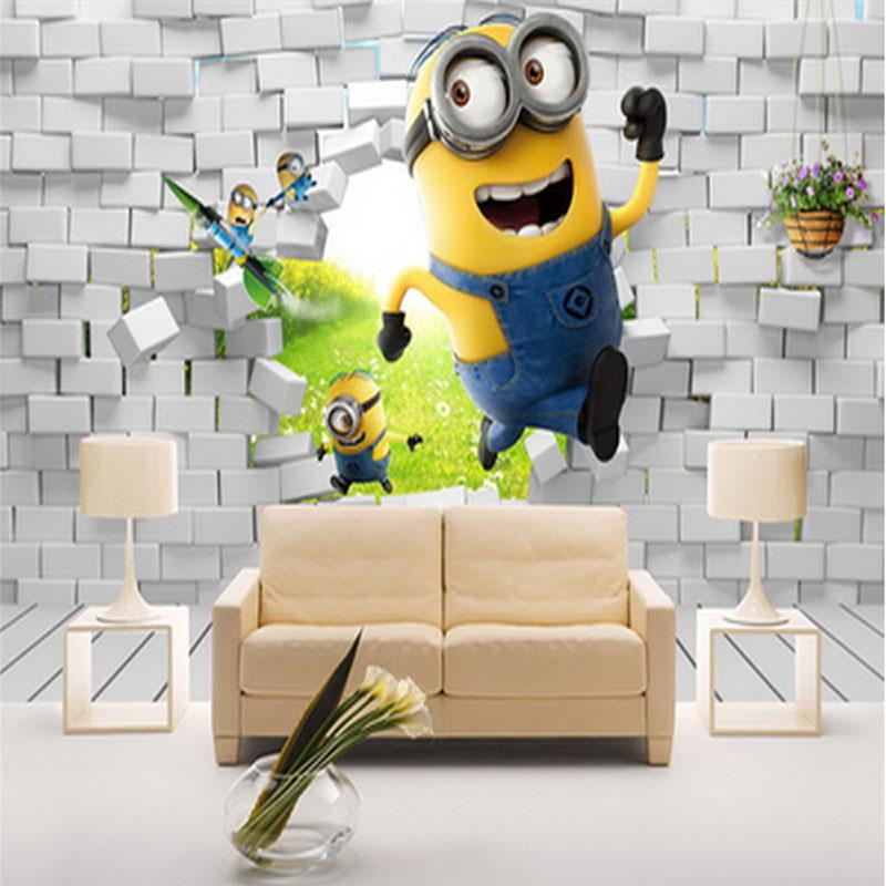 cartoon custcom 3D mural wallpaper bed kids room TV sofa ...