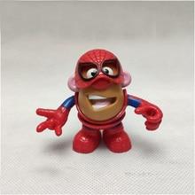 Marvel Avengers Spider-man Iron Man Mr Potato Head Mr. Humpty Dumpty  Cosplay Mixable Mashable Heroes Pvc Figure Toys