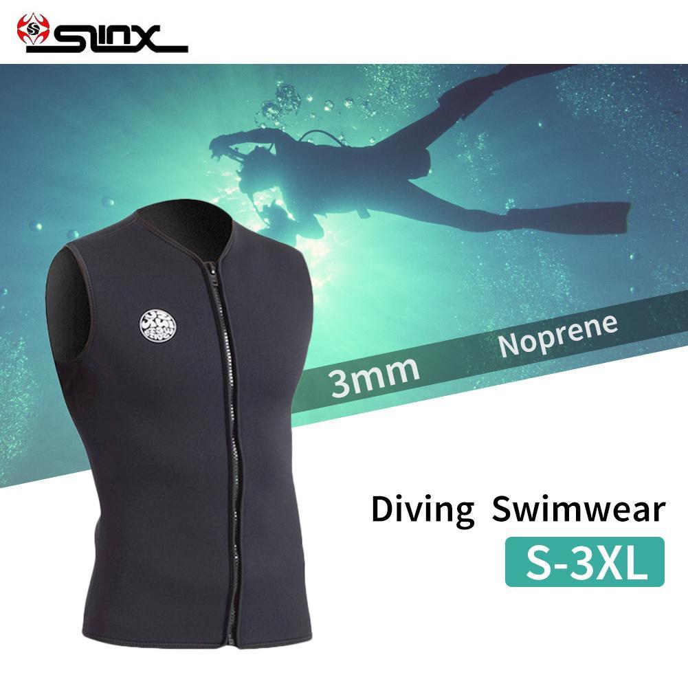3mm Neoprene Wetsuit Vest None Sleeve Inside Men Women Kitesurfing Suit Diving Swimsuit Swimwear none axion mdy 19