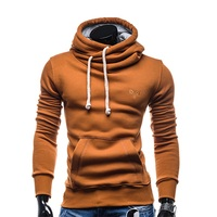 2017 New Fashion Spring Autumn Hip Hop Hoodie Sweatshirt Men Hooded Streetwear Pillover Tracksuit Solid Color