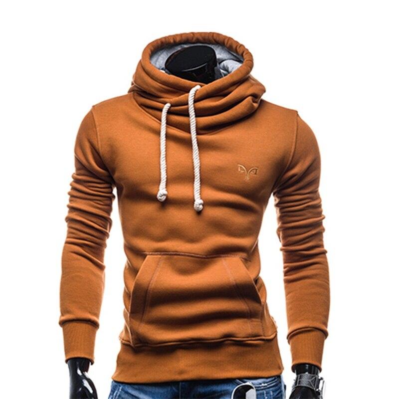 2017 nova Moda Primavera outono camisola do hoodie do hip hop homens streetwear pillover encapuzados treino sportswear Cor Sólida Com Capuz