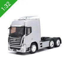 High simulation 1:32 scale HYUNDAI TRAGO alloy tractor metal casting collection model vehicle kids toys gifts free shipping(China)