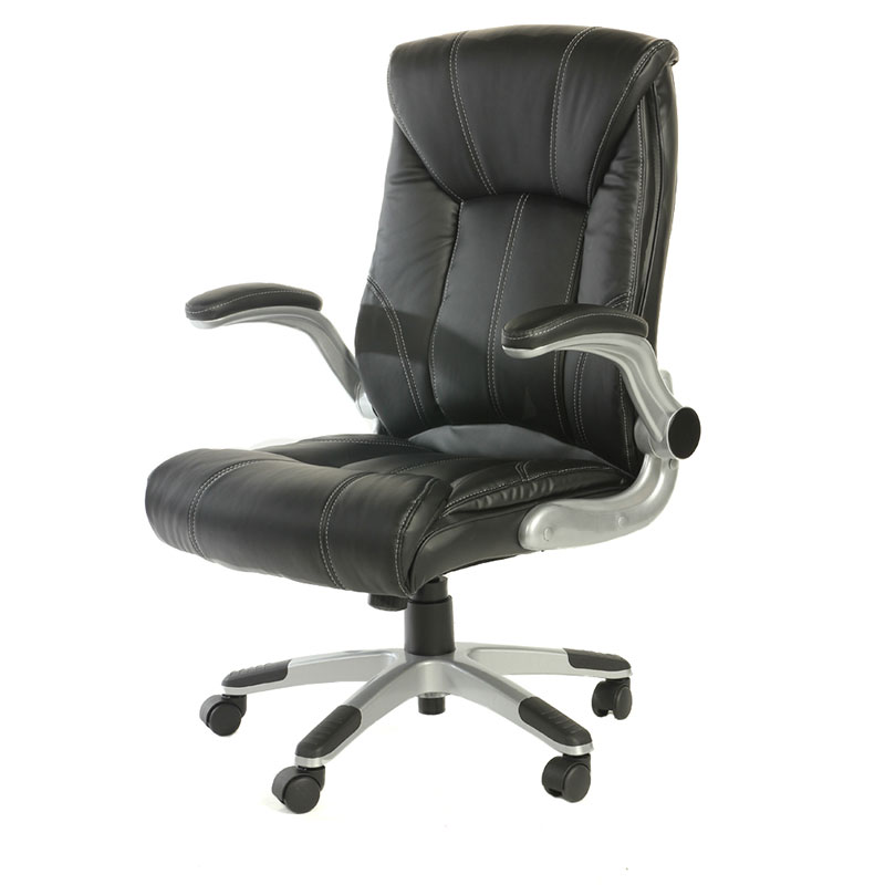 Computer Chair 360 Degree Swivel Streamlined Leather
