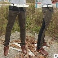 Dobra jakość Darmowa wysyłka 2018 nowy Koreański wersja popularnych młodych mężczyzn mieszane kolory Slim małych stóp jeans Cheap wholesale