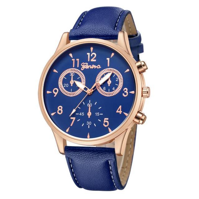 Business Men's Quartz Date Clock Man Leather Wrist Watch 2