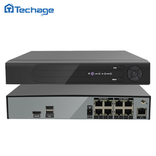 Techage H.265 H.264 8CH 48 V POE Caméra IP NVR de Sécurité de Surveillance CCTV Système P2P ONVIF 4*5 MP/8*4 MP HD Réseau Vidéo Enregistreur