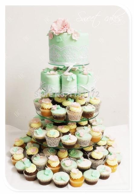 Storey 12 Cm New 5 Tier Maypole Clear Acrylic Wedding Cupcake Stand Perspex