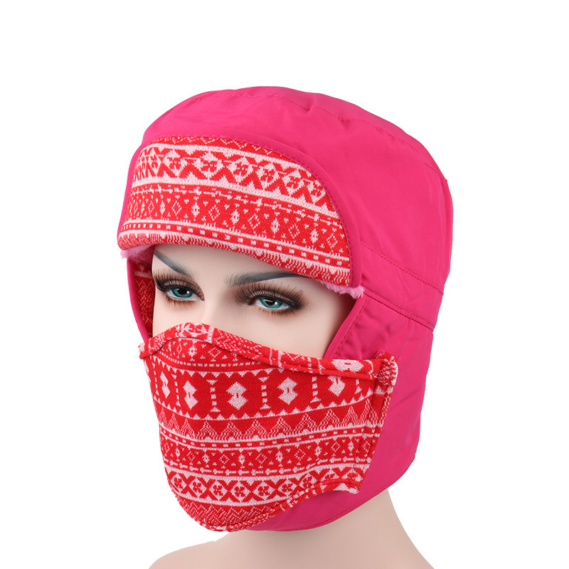 Recommend 2016 Women skullies Beanies Outdoor Hat Winter Warm Earmuffs Face Ski Motorcycle Mask Snow Cap Multi purpose Cappello skullies