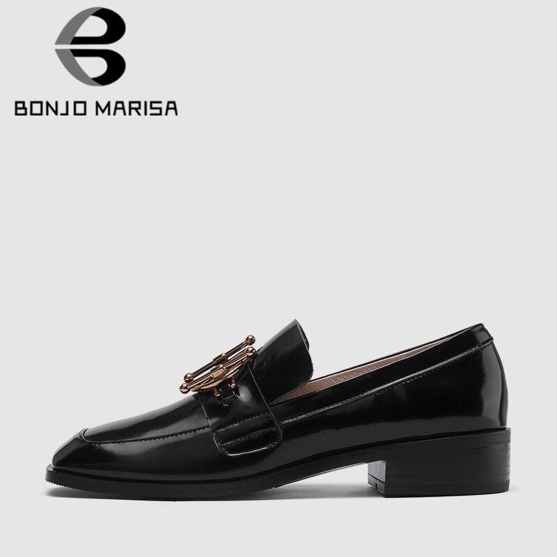 Mujeres Tacón Oficina Las 42 Bajo Decorar Bonjomarisa Bombas Genuino Zapatos  Mujer 33 negro Vaca Trabajo Primavera Dama 2019 Nuevo Cuero ... af4af6e109ba