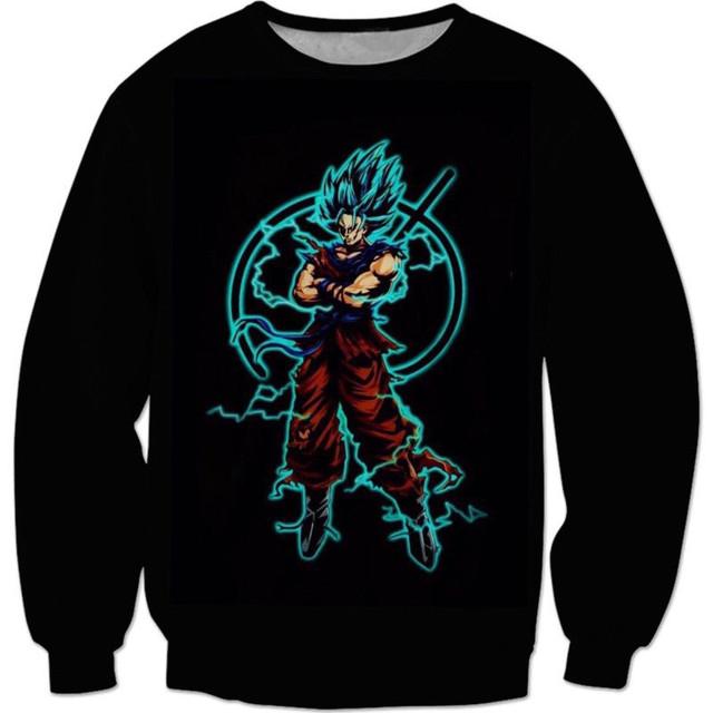 Cool Goku 3D Sweatshirt