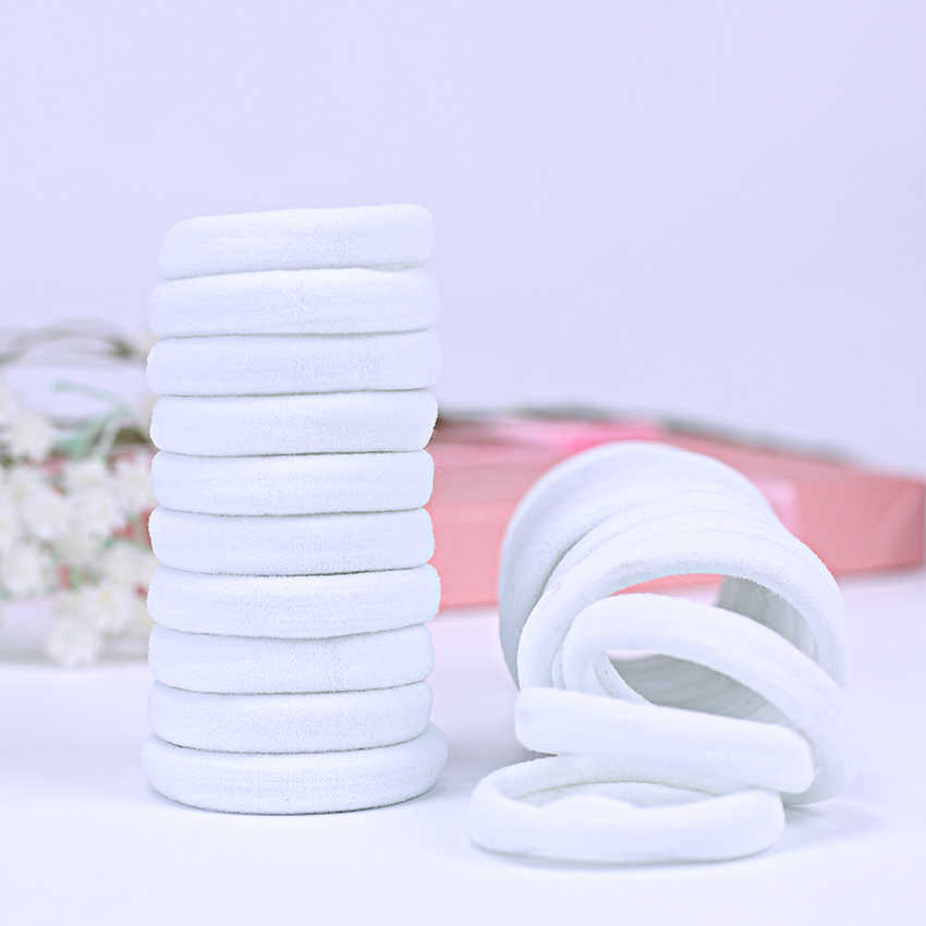 20 шт. головные уборы для девушек белые резинки для волос хвост держатель с головными повязками головная повязка, аксессуары для волос