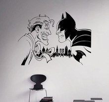 New arrival Batman Vs Joker Wall Decal Comics Superhero Vinyl Sticker Custom Decals Home Decor Removable Art