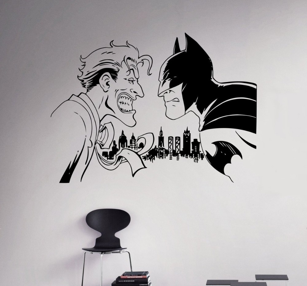 Online Get Cheap Superhero Wall Decals D Aliexpresscom - Superhero vinyl wall decals