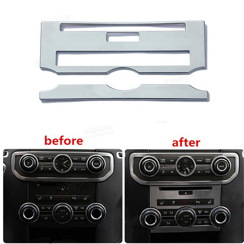 car styling For Land Rover Lr4 Discovery 4 2011 2012 2013 2014 2015 Center Console Control Panel Cover Trim Chrome 3pcs oem black piano paint chrome car center console air condition vents for passat b6 b7 cc r36 3ad 819 701 a 3ad 819 702 a