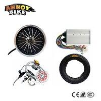 60 В в В 72 в В 84 в 1500 Вт концентратор моторное колесо с дисковым тормозом комплект электрический автомобиль DIY колесо Вт 1500 Вт высокая скорость