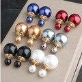 2016 venta caliente de la moda retro de gran tamaño doble de La Perla D grande pendientes de joyería de moda las mujeres boucle d'oreille oorbellen