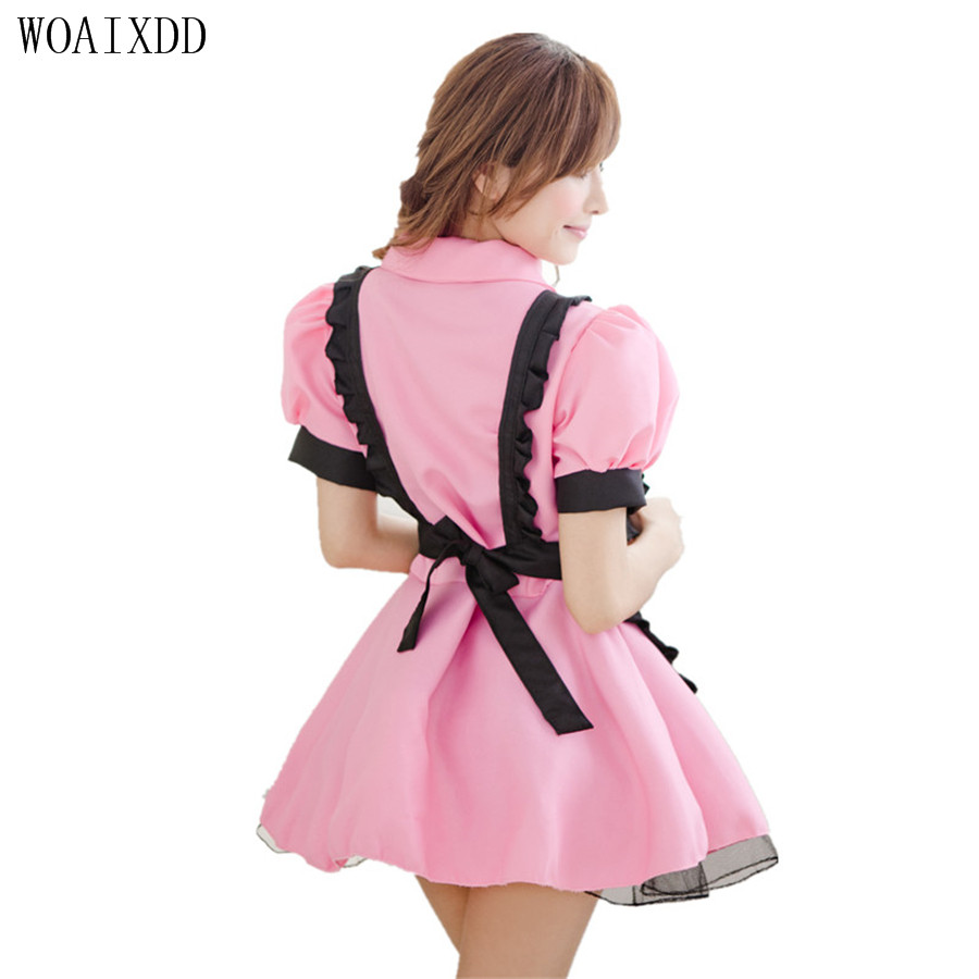 Sexy Lingeries Women Sexy Late Nite French Maid Costume Servant Cosplay Sexy Women Dress Exotic Apparel Sexy Maid