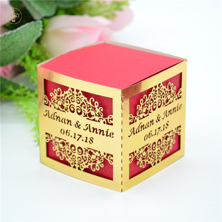 Indian Wedding Cut Luxury Laser Ganesh Sweet Boxes Design
