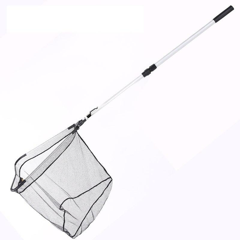 95cm 160cm 210cm Folding Fishing Net Retractable Telescoping Aluminum Alloy Pole Super Large Folding Landing Net B103 in Fishing Net from Sports Entertainment