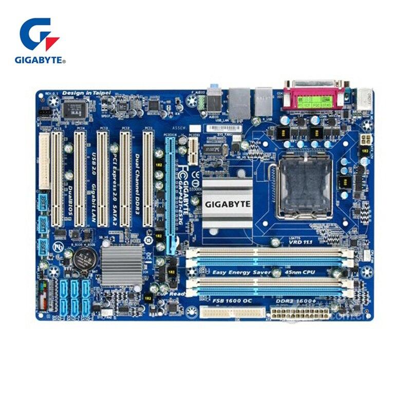 Gigabyte LGA 775 Para Intel DDR3 GA-P43T-ES3G 100% Original Motherboard 16G P43 P43T-ES3G Mainboard Desktop Usado P43 T ES3G