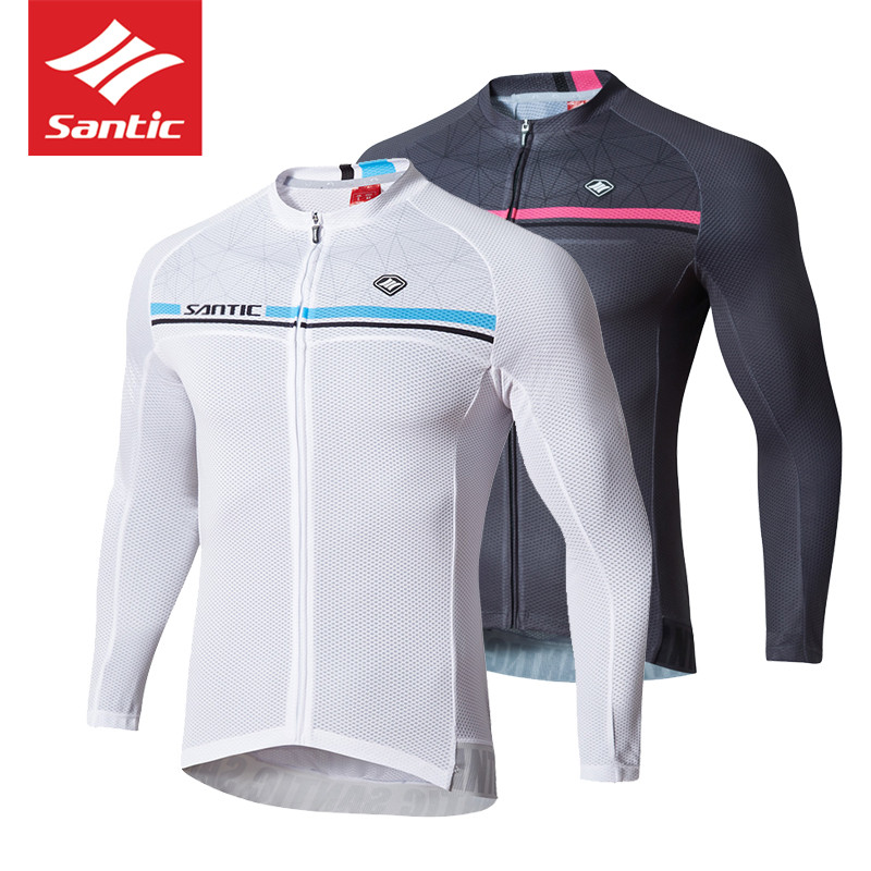 Santic Bike Jersey Cycling Clothing Long Sleeves Men MTB Cycle Jersey UV Sun Protection Cycling Pro Downhill Bycicle GYM Clothes santic cycling men s downhill ridet shirt long jersey long sleeve white