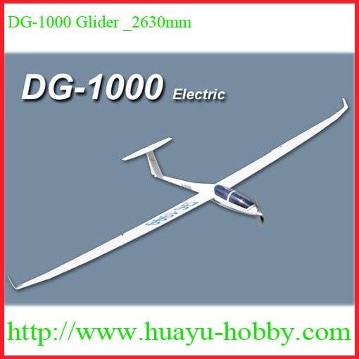 DG-1000 Slope Glider 2630mm Material: Fiberglass fuselage, Balsa wings