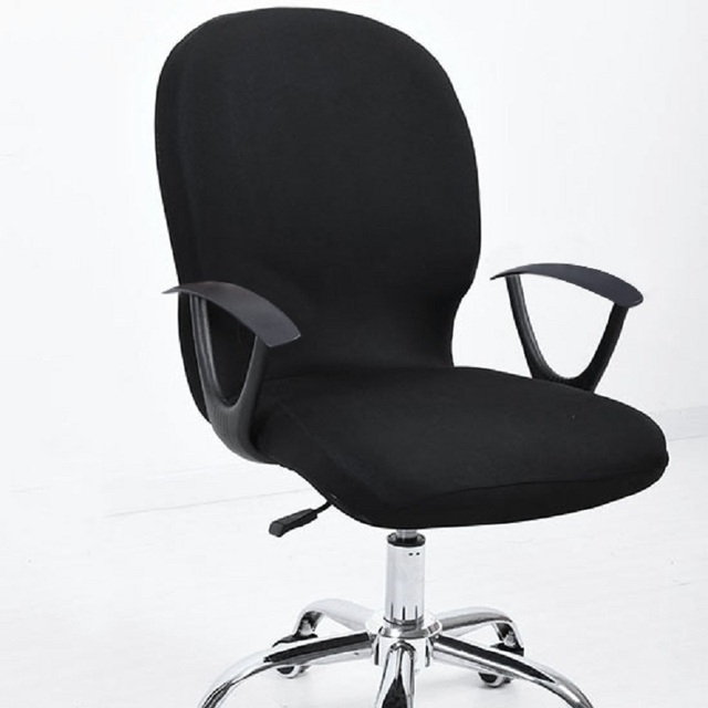 chair covers office seats gray rocking for nursery elastic seat computer chairs stretch rotating cover desk slipcover