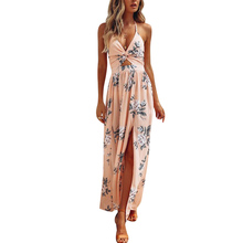 9f465cc312229 Buy maxi dress slit floral prints and get free shipping on ...