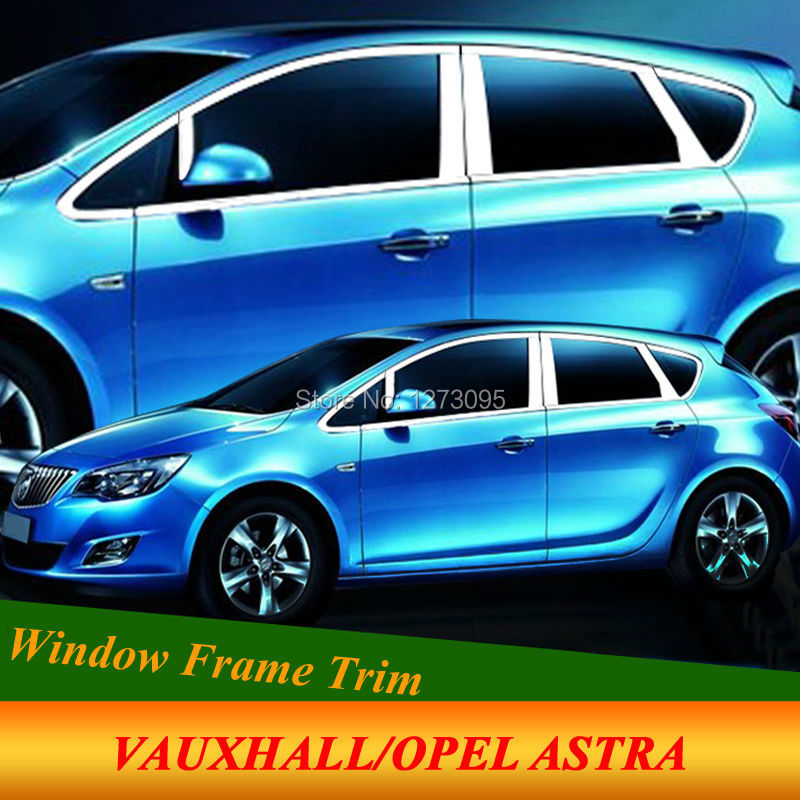 For Vauxhall Opel Astra J 2010-2014 Stainless Steel Window Frame Moulding Trim Center Pillar Protector Car Styling Accessories for vauxhall opel astra j 2010 2014 stainless steel window frame moulding trim center pillar protector car styling accessories
