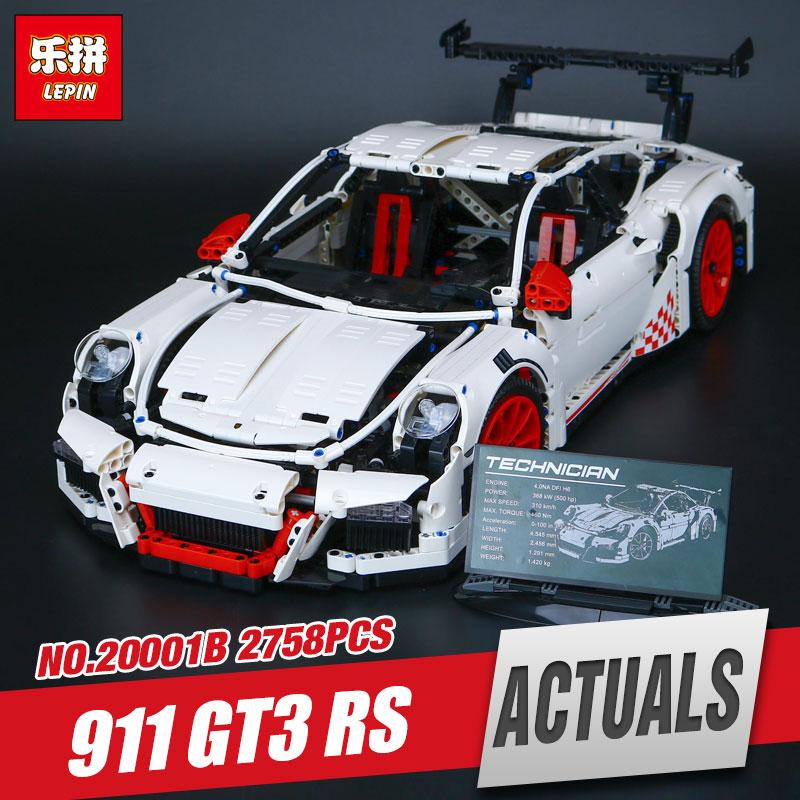 LEPIN 20001B 2758Pcs New Technic Series Classic 911 GT3 R3 Race Car 42056 Educational Building Bricks Blocks Boys Gifts Model