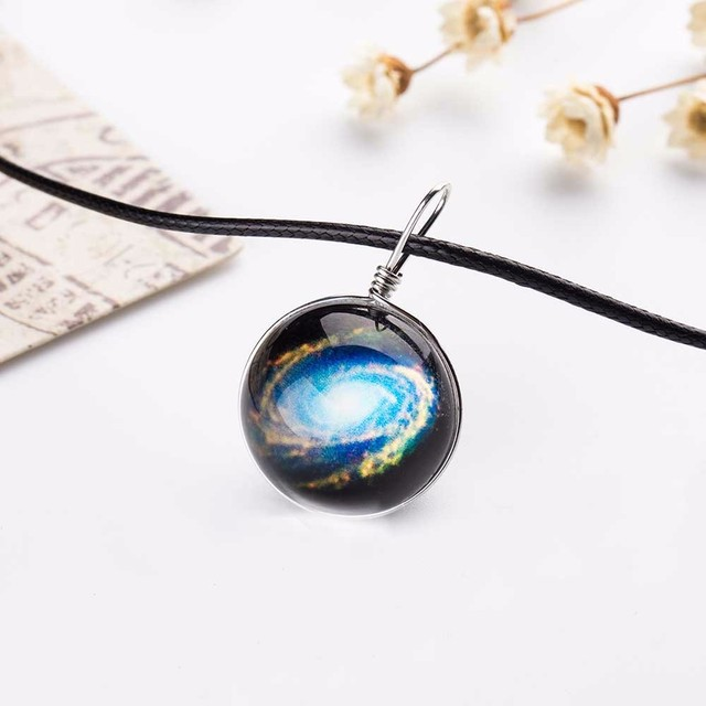 Nebula Space Galaxy Glass Necklace