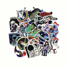 TD ZW 50Pcs Outer Space Astronaut Stickers For Suitcase Skateboard Laptop Luggage Fridge Phone Car Styling DIY Decal Sticker