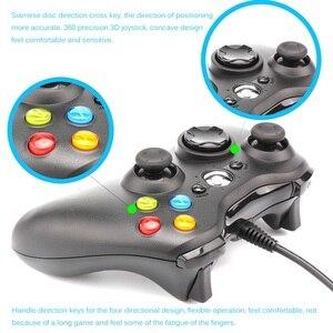 Image 5 - Contrôleur de manette de jeu 3D USB filaire double vibration 360 contrôleur de jeu dordinateur de précision pour Steam Win98/ME/2000/XP/Win7 8