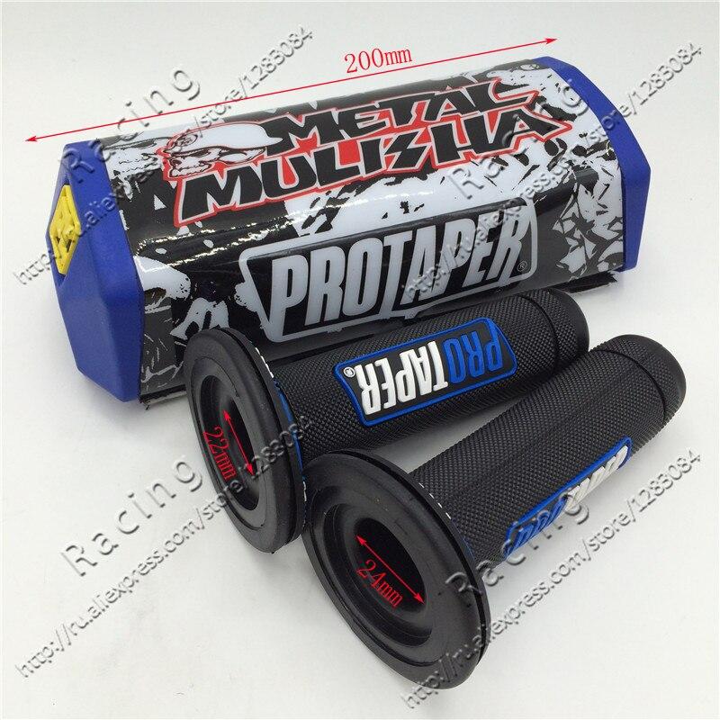 MX Dirt bike Chest CROSS Handlebar 1-1/8 PROTECTOR Pro Taper Metal Mulisha Square Fat Bar Pad for 1-1/8 Bars+pro Grips