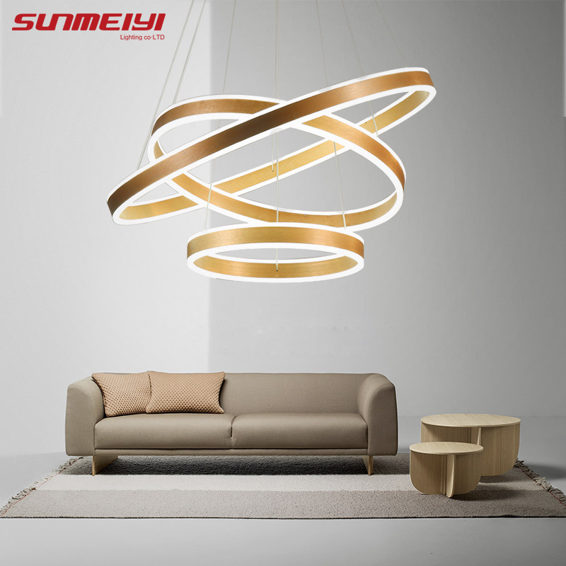 새로운 현대 3 원 링 LED 펜던트 조명 거실 식당 LED - 실내 조명 - 사진 1