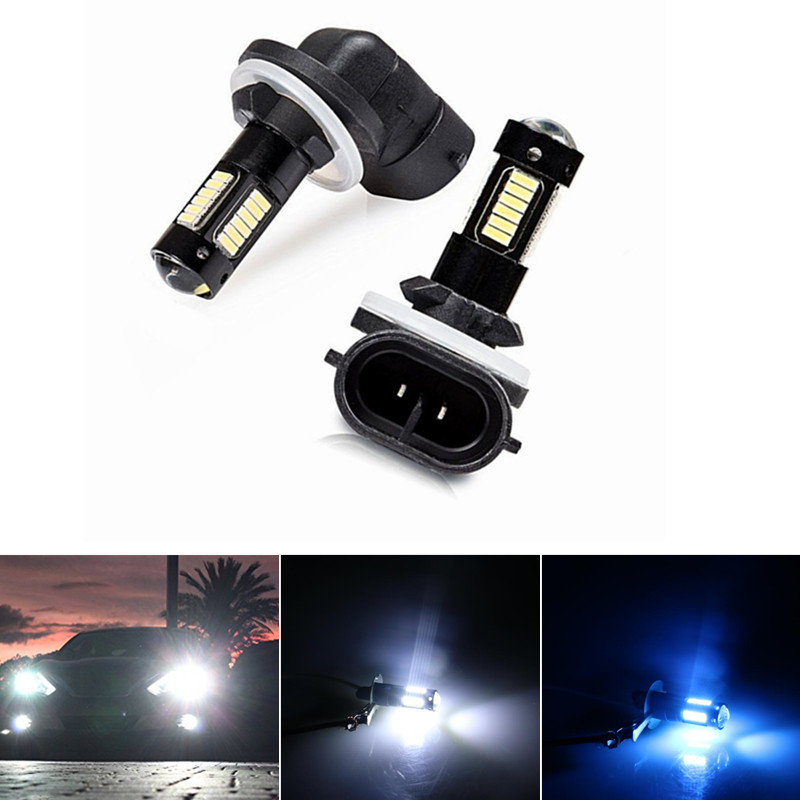 2PC High Power 6500K White 30-SMD 4014 881 889 H27 LED Replacement Bulbs For Car Fog Lights,ca Lamps,12V Car Led,yellow/Red
