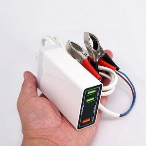Image 3 - 12 V 24 V סוללה העברת 5 V USB תשלום מהיר 6A QC3.0 3 יציאת טעינת מתח ותצוגה נוכחית טלפון טעינה