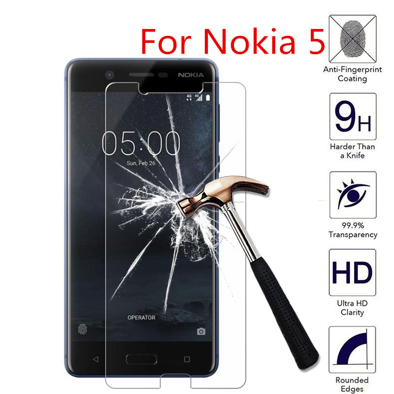 For Nokia 5 Dual SIM 5.2 2.5D HD Tempered Glass Screen Protector For Nokia 5 nokia5 5.2inch Phone Protective Guard Films Case