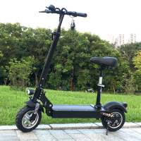FLJ-patinete eléctrico con asiento para adulto, Scooter plegable de 1200W y 48V, con freno de disco
