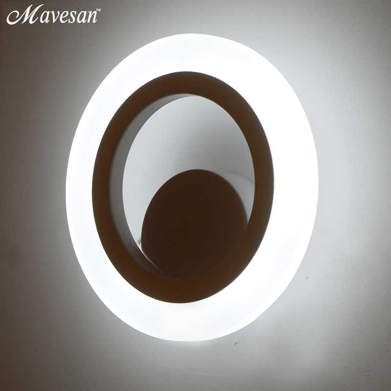 Bedroom 9W LED Wall Lamp for Bathroom Wall Sconce White Indoor Lighting Lamp 3-5 square meters Aisle Lighting decorationBedroom 9W LED Wall Lamp for Bathroom Wall Sconce White Indoor Lighting Lamp 3-5 square meters Aisle Lighting decoration