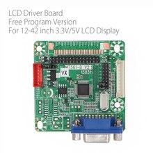 무료 프로그램 Verison MT516 B 일반 LVDS LCD 드라이버 보드 VGA 12 42 인치 LCD 모니터 패널 용 점프 캡 DC 5V 3.3V/5V