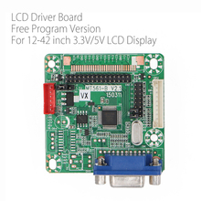 送料プログラムverison MT516 B一般のlvds lcdドライバボード12 42インチ液晶モニター用のvgaパネルジャンプキャップdc 5v 3.3v/5v