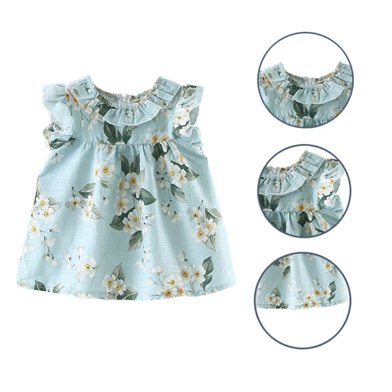 Baby & Toddler Clothing Robe été 6 Mois Fille Vêtement Bébé Dress Girls' Clothing (newborn-5t)