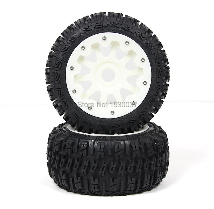 high-strength nylon Rear wheel X 2 tire assembly for 1/5 hpi rovan km baja 5b partshigh-strength nylon Rear wheel X 2 tire assembly for 1/5 hpi rovan km baja 5b parts