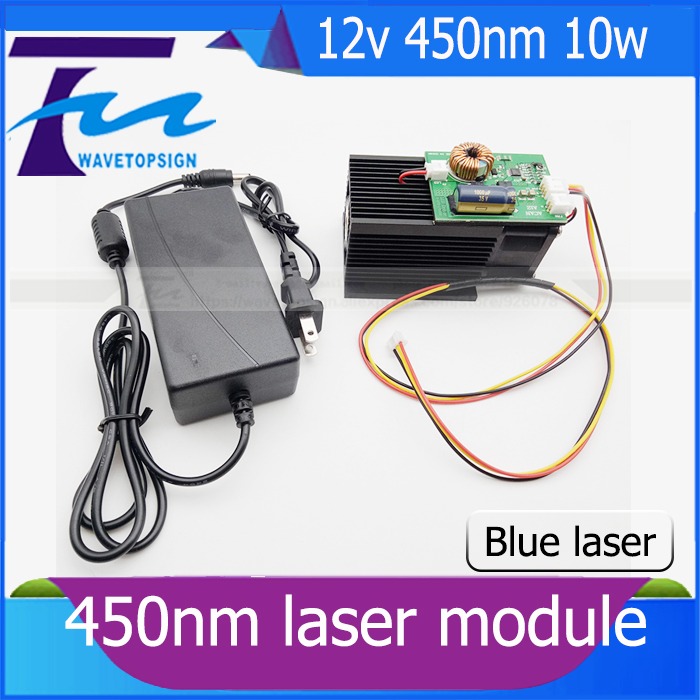 12v high power laser module 10W 450nm laser tube blue violet laser engraving machine accessories 10000mw hot sell high quality cw3000 water chiller cooling laser tube for laser machine