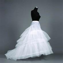 Sweep Train 3 Hoops Wedding Petticoats For Dress Crinoline Waist Size Adjust Woman Underskirt Accessories 2018 New