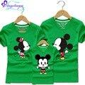 2017 Mamá Y Yo Familia Camiseta de la Historieta de Mickey Mouse Ropa de Mama Ropa de Padre E Hija 10 Colores A Juego de la Familia Madre E Hijo