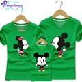 2017 Mickey Mommy And Me Family Tshirt Cartoon Mouse Ropa Mama E Hija 10 Colors Family Matching Clothes Father Mother And Son